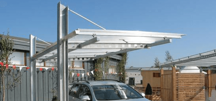 carport exklusive stahl carports carport visionen. Black Bedroom Furniture Sets. Home Design Ideas