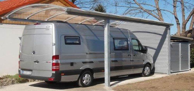 carport carports f r wohnmobile einsatz und rettungsfahrzeuge carport visionen. Black Bedroom Furniture Sets. Home Design Ideas